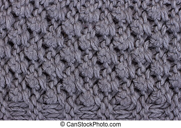 Gray knitting background texture.