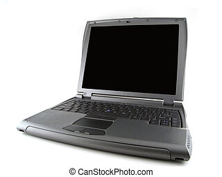 Gray laptop computer - Isolated gray laptop computer