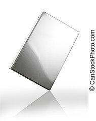 Gray laptop on white background