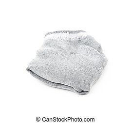 Gray low-cut ped socks isolated - Folded pair of gray...