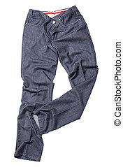 Gray luxury male pants