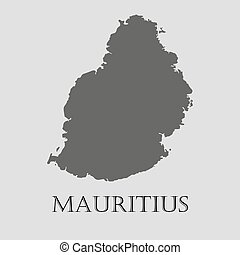 Mauritius map. Highly detailed vector map of mauritius with ...