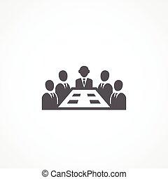 Meeting icon - Gray Meeting icon on white background