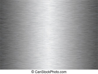 silver gray brushed aluminum metal background with light reflection