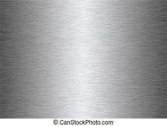 gray metal background - silver gray brushed aluminum metal...