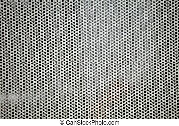 Gray metal grid industrial background