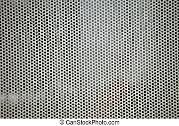 Gray metal grid industrial background