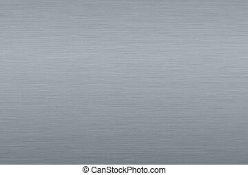 Gray metallic background - Roughly brushed, gray metallic...