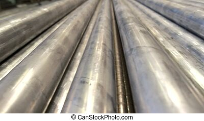 Gray metallic pipes.