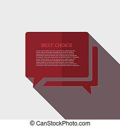 gray., moderne, vecteur, bulle discours, icône