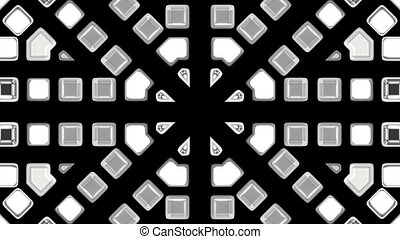 gray mosaics block disco pattern