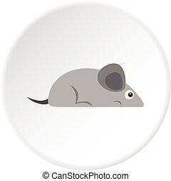 Gray mouse icon circle