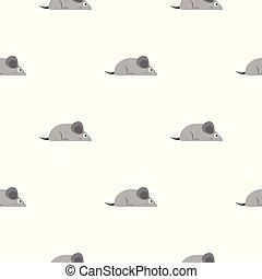 Gray mouse pattern seamless