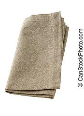 gray napkin on white background
