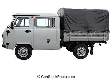 Gray off-road car.