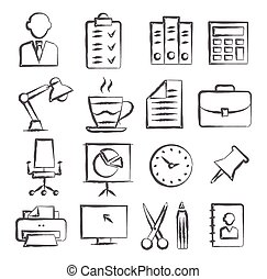 Office Doodle Icons