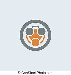 Gray-orange Infection Round Icon