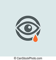 Gray-orange Running Eye Round Icon