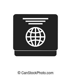 gray passport identification tourist