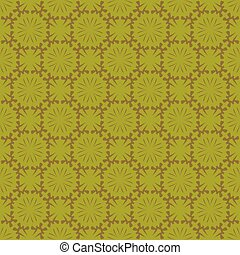 Gray patterns on a green background. Seamless pattern. Abstract vector.