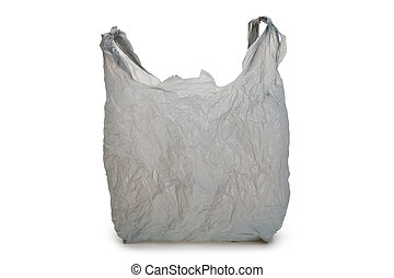 Gray Plastic bag with white background