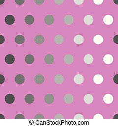 gray polka dots on pink background