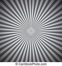 Gray radial rays abstract background
