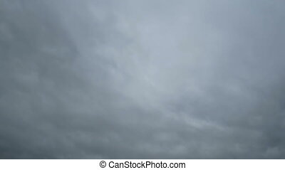 Gray Rain Clouds are Moving in the Sky. TimeLapse. Beautiful...