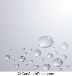 gray rain - Gray background with water drops