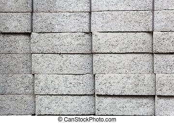 Gray rectangular pavers