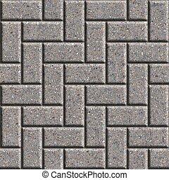 Gray Rectangular Paving Slabs. Seamless Tileable Texture.