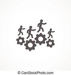 Gray Resources icon on white background