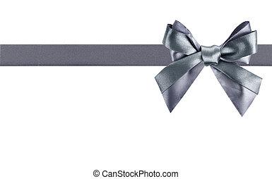 gray ribbon bow like a gift