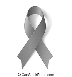 Gray ribbon - Grey ribbon as symbol of borderline...