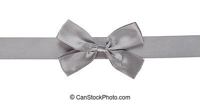 gray ribbon with bow