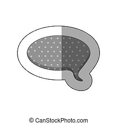 gray round chat bubble icon