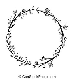 gray scale decorative crown floral vector illustration