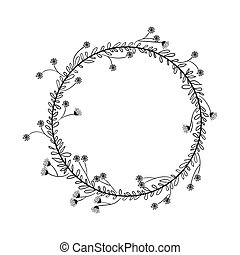 gray scale decorative small crown floral