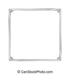 gray scale frame with contour - gray scale frame with hand ...