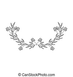 gray scale half crown olive branch contour vector ...
