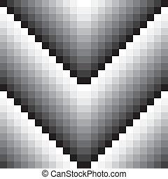 Gray scale tile wall seamless V shape