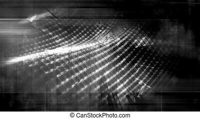 Gray scale wire frame geometric