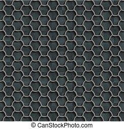 Gray Seamless Web Hexagon Pattern