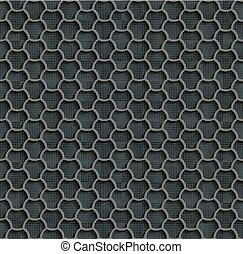 Gray Seamless Web Hexagon Pattern