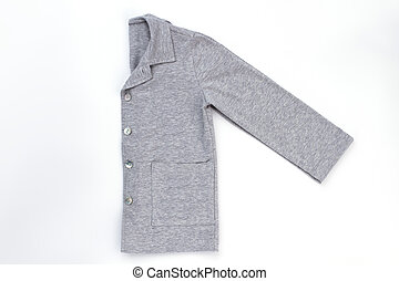 Gray shirt folded in half