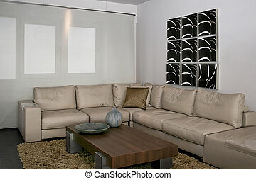 Gray sitting area