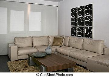 Gray sitting area