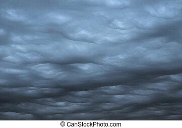 dark heavy gale black stormy ominous clouds
