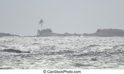 Gray Sky Threatens Rain at Tropical Beach in Hikkaduwa - ...