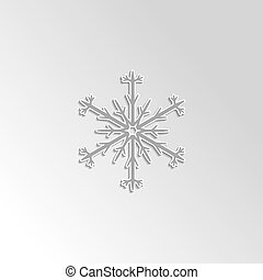 snowflake on gray gradient background